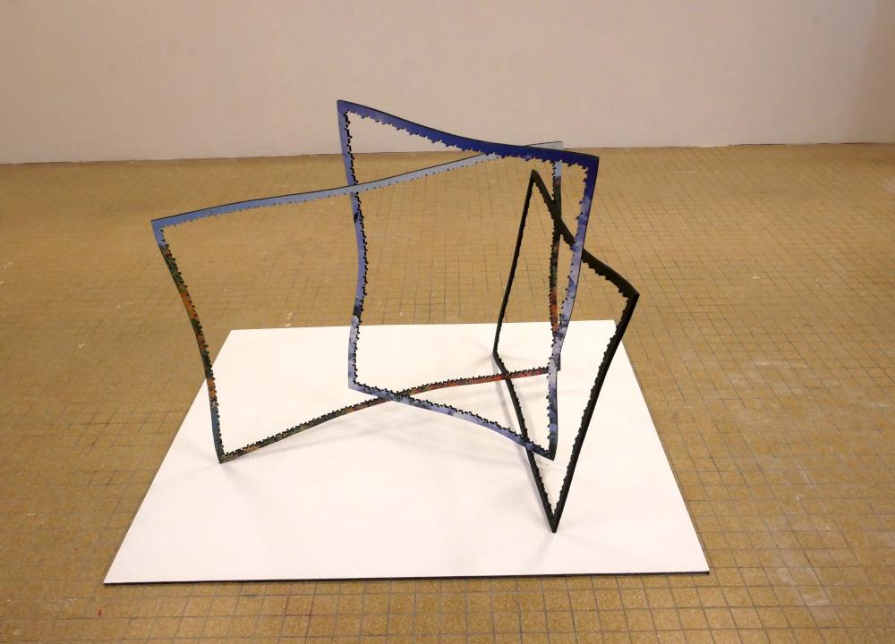 vue de la pièce trois cadres au sol Net